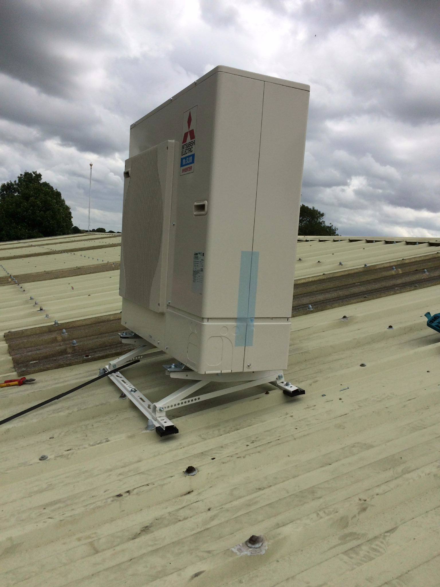 Air Conditioning Refrigeration Condensing Unit Roof